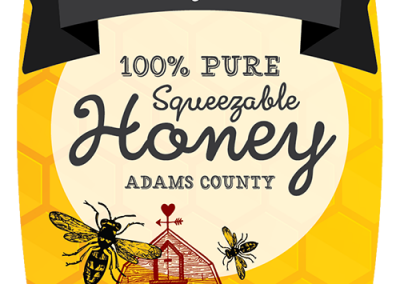 sticker label graphic design honey farm