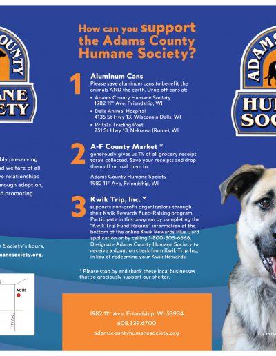 brochure design local humane society