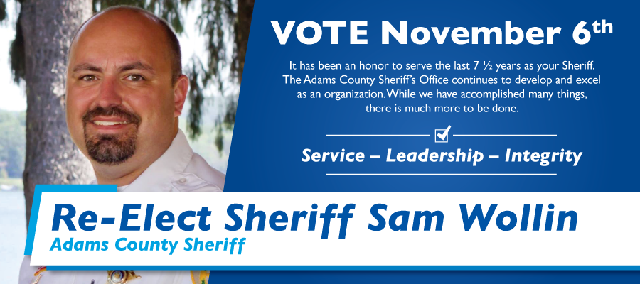 rack card design local sheriff election