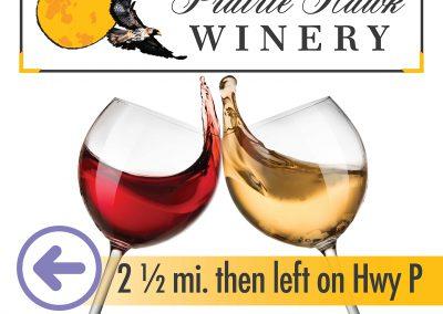 billboard sign graphic design winery
