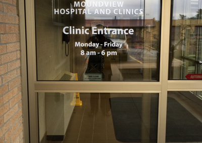Gundersen Moundview Hospital & Clinics: Window Vinyl